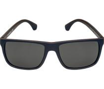 Brillen Sonnenbrille, Kunststoff, nachtblau-braun