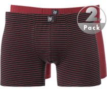 Unterwäsche Trunks Baumwoll-Stretch schwarz- gestreift