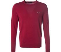 Pullover Merinowolle rubinrot