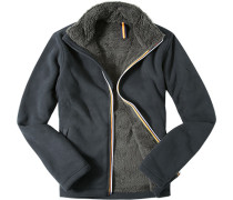 Fleecejacke Slim Fit Microfaser anthrazit