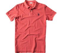 Polo-Shirt Polo Baumwoll-Piqué lachs