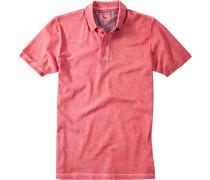 Polo-Shirt Polo Baumwoll-Piqué erdbeerrot