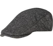 Herren  FRED PERRY Cap Woll-Mix grau gemustert