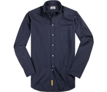 Hemd, Regular-Fit, Baumwolle, navy