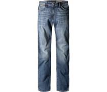 Blue-Jeans Regular Fit Baumwoll-Stretch