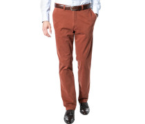 Herren Hose Chino Regular Fit Baumwoll-Stretch rost braun