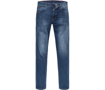 Blue-Jeans, Baumwoll-Stretch, indigo