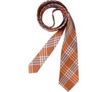 Herren Krawatte  orange