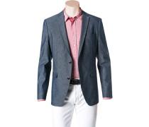 Herren Jeans-Sakko Shaped Fit Baumwolle teilgefüttert jeansblau