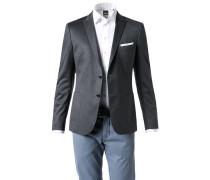 Jersey-Sakko Slim Fit Baumwolle meliert