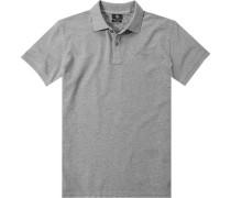 Polo-Shirt Polo, Modern Fit, Baumwoll-Piqué, meliert