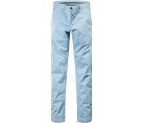 Herren Hose Chino Regular Fit Baumwoll-Stretch hellblau