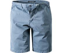 Herren Shorts Regular Fit Baumwolle jeansblau