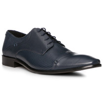 Schuhe Oxford, Leder, blu scuro