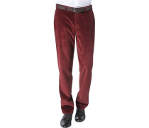 Herren Hose Cordhose Contemporary Fit Baumwolle bordeaux rot