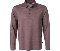 Polo-Shirt Polo Baumwoll-Jersey bordeaux meliert