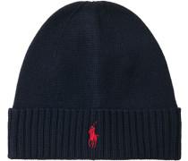 Mütze Merinowolle nachtblau