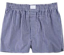 Herren Unterwäsche Boxershorts Baumwolle marine-weiß kariert blau