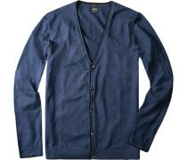 Cardigan Slim Fit Baumwolle marineblau