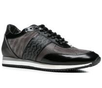 Herren Schuhe Sneakers Kalbleder dunklegrau grau,schwarz