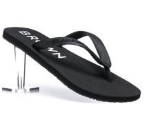 Herren Schuhe Zehensandale Gummi schwarz