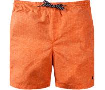 Herren Bademode Badeshorts Microfaser orange