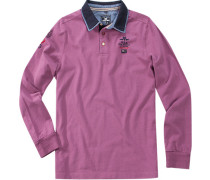 Polo-Shirt Polo Baumwoll-Jersey violett