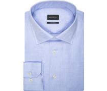 Hemd Shaped Fit Baumwolle hellblau