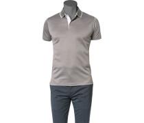 Polo-Shirt Polo Baumwoll-Jersey gemustert