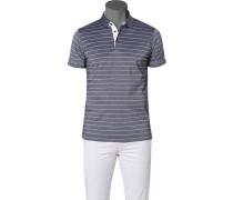 Polo-Shirt Polo Baumwolle marine-weiß gestreift