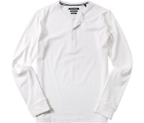 T-Shirt Longsleeve Shaped Fit Baumwolle off white