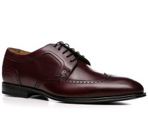 Herren Schuhe Derby Kalbleder bordeaux rot,braun