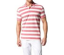 Herren Polo-Shirt Polo Baumwoll-Piqué rot-weiß gestreift rot,weiß