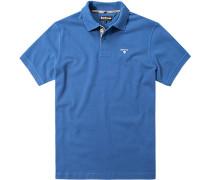 Polo-Shirt Polo Baumwoll-Piqué azurblau