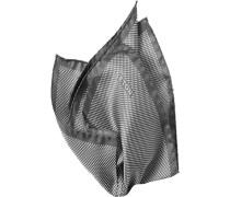Accessoires Einstecktuch Seide platin-weiß gepunktet