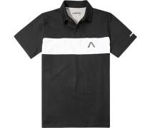 Herren Polo-Shirt Polo DryComfort schwarz-weiß