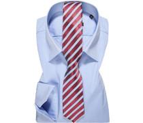 Herren Oberhemd mit Krawatte blau