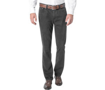 Jeans Seth Tailored Fit Baumwoll-Stretch dunkelbraun
