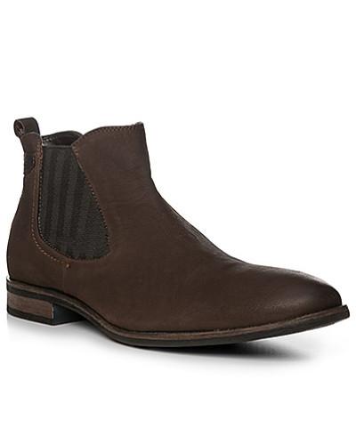 Bugatti Herren Schuhe Chelsea-Boots, Leder, dunkelbraun