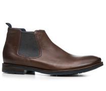Herren Schuhe Chelsea Boots Leder schokobraun braun,blau