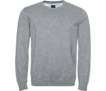 Pullover Pulli Modern Fit Baumwolle meliert