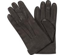 Handschuhe Hirschleder, Strickfutter Kaschmir,
