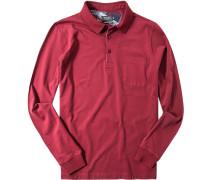 Poloshirt Baumwoll-Jersey bordeaux