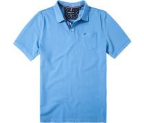 Herren Polo-Shirt Polo Baumwoll-Piquè himmelblau