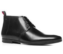 Herren Schuhe Desert Boots Glattleder schwarz schwarz,schwarz
