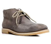 Herren Schuhe STANTON Kalbvelours warm gefüttert graubraun braun,grau
