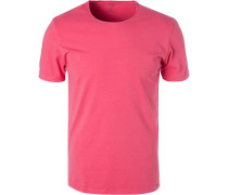 T-Shirt, Body Fit, Baumwolle, koralle