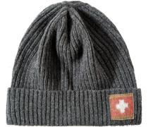 Herren  strellson Mütze Woll-Mix anthrazit meliert grau