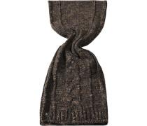 Schal Wollmischung braun meliert