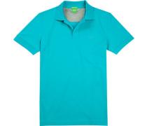 Polo-Shirt Polo, Regular Fit, Baumwoll-Pique, türkis